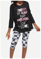 Justice Girls Cat Videos Pajama Set, New, 6 7 8 10 12 14 16 18 20 Pjs Pajamas