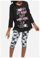 Justice Girls Cat Videos Pajama Set, New, 6 7 8 10 12 14 16 18 20 Pjs Pajamas