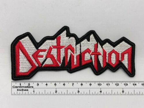 """5,51/"""" x 2,36/"""" Destruction band patch 14cm x 6cm"""