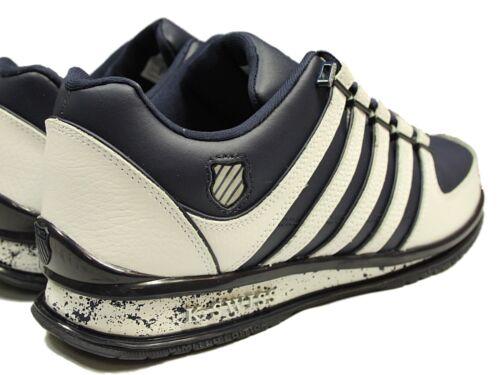 Totalmente nuevo para hombre K SWISS Rinzler Con Cordones Zapatillas Calzado en Blanco-Gris Zapatillas