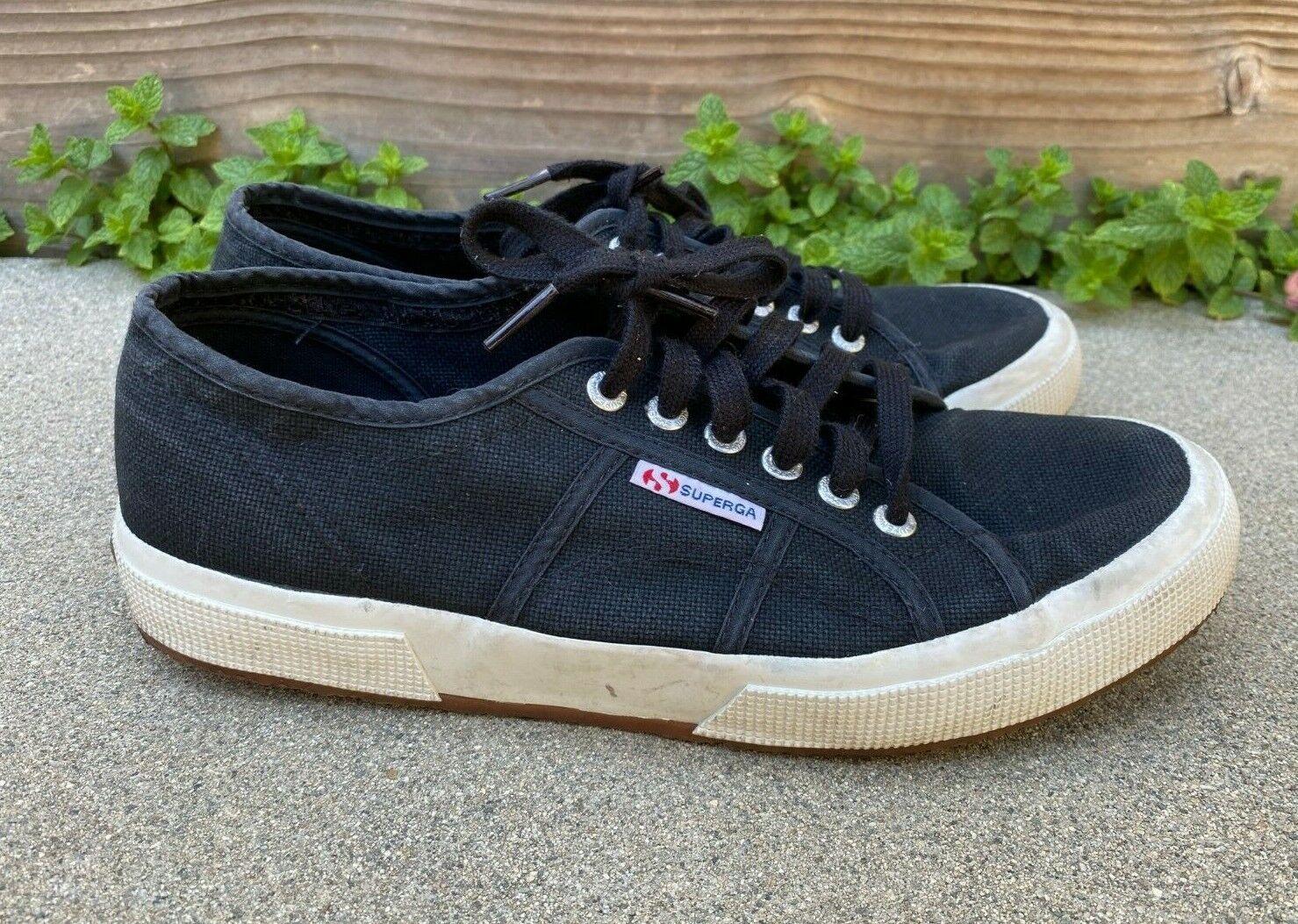 SUPERGA Women's Black Cotu Canvas Sneakers Shoes   41 1/2 US 10