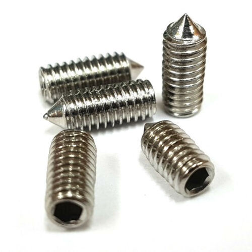 Douille De Cône Grub Vis pointeau acier inoxydable A2 M2 M2.5 M3 M4 Hex Allen