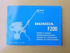 HONDA CULTIVATOR OWNERS OPERATORS MANUAL F200 HONDA MOTOR CO 1980
