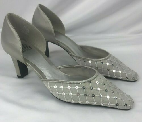 Pump Neu Tootsies Satin Mootsies 8m Size Grey qf06ntwA