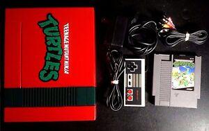 Nintendo-NES-Console-System-Custom-Red-Black-TMNT-Teenage-Mutant-Ninja-Turtles