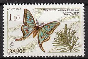 FRANCE-TIMBRE-NEUF-N-2089-PAPILLON-GRAELLSIA-ISABELLAE-GR