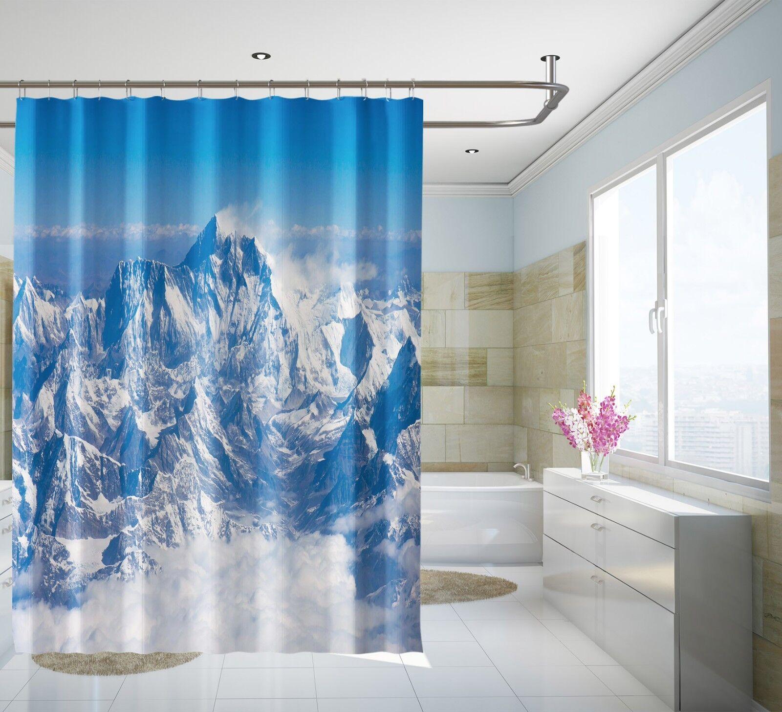 3D Schneeberg 535 Duschvorhang Wasserdicht Faser Bad Daheim Windows Toilette DE | Günstige Bestellung