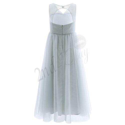 UK Flower Girls Chiffon Dress Wedding Bridesmaid Birthday Party Pageant Dresses