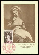 France MK 1953 CROCE ROSSA RED CROSS dipinto del Louvre carte MAXIMUM CARD MC ax23