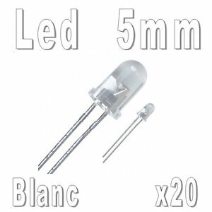 20x-LEDs-5mm-Blanches-16000mcd