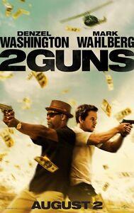 2 Waffen Advance Zweiseitig Original Kinofilm Plakat Denzel Washington Cinema