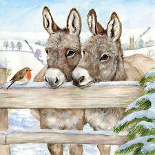 Servietten 20, Serviettentechnik Donkeys Esel Ambiente 33 x 33