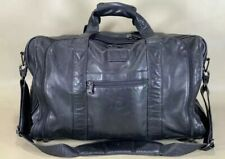 """Tumi 978D3 Black Nappa Leather 21"""" Expandable Carry on Duffle Weekender Bag"""