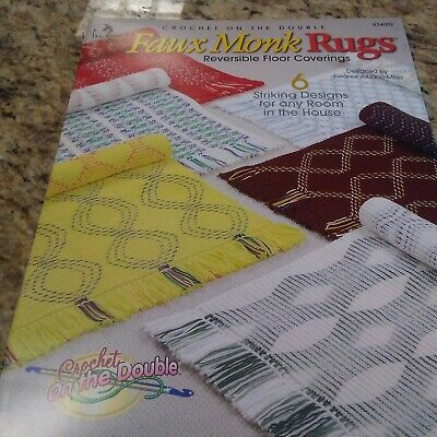 Faux Monk Rugs Reversible Floor Coverings Annie/'s Crochet Pattern Leaflet NEW