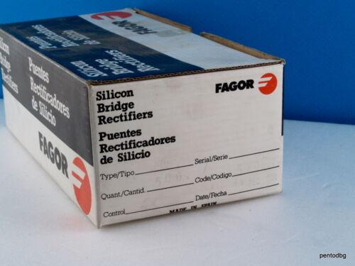 25 PCS SILICON DIODE BRIDGE RECTIFIER 100V 1.5A  W01F FAGOR SPAIN  ORIGINAL NOS