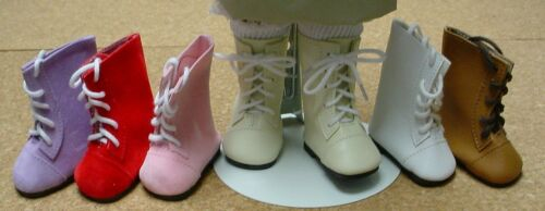 "65mm LT CREAM Lace up Boots for 16/"" Sasha DOLL Shoes"
