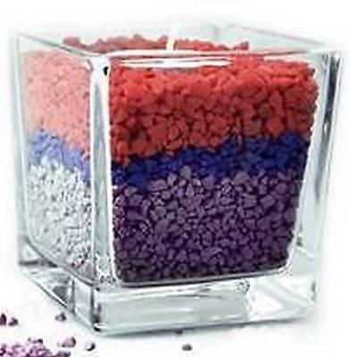 500g Colorate Pietre Acquario Acquario Wedding Decorativa Marmo Ghiaia (ru5)- Ottima Qualità