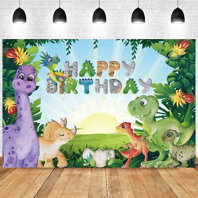 Dinosaur Photography Backdrop Kids Birthday Party Photo Background Decor Prop Ebay