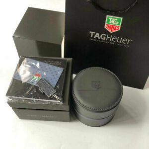 Dark-Gray-TAG-HEUER-Watch-Box-Case-Genuine-Leather-Full-Set-Bag-amp-Papers-Carrera