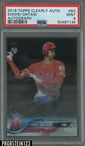 2018 Topps Clearly Authentic Shohei Ohtani RC Rookie Signed AUTO PSA 9 MINT