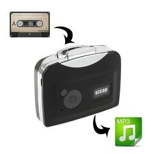Portable Ezcap230 USB Cassette Tape to MP3 Capture Converter with Playback-Black