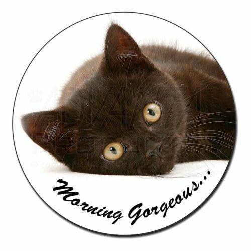 Black Cat /'Morning Gorgeous/' Fridge Magnet Stocking Filler Christmas G MG-131FM