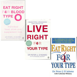 Eat-Right-4-Your-Type-Eat-Right-for-Blood-Type-O-3-Books-Collection-Set-BrandNew