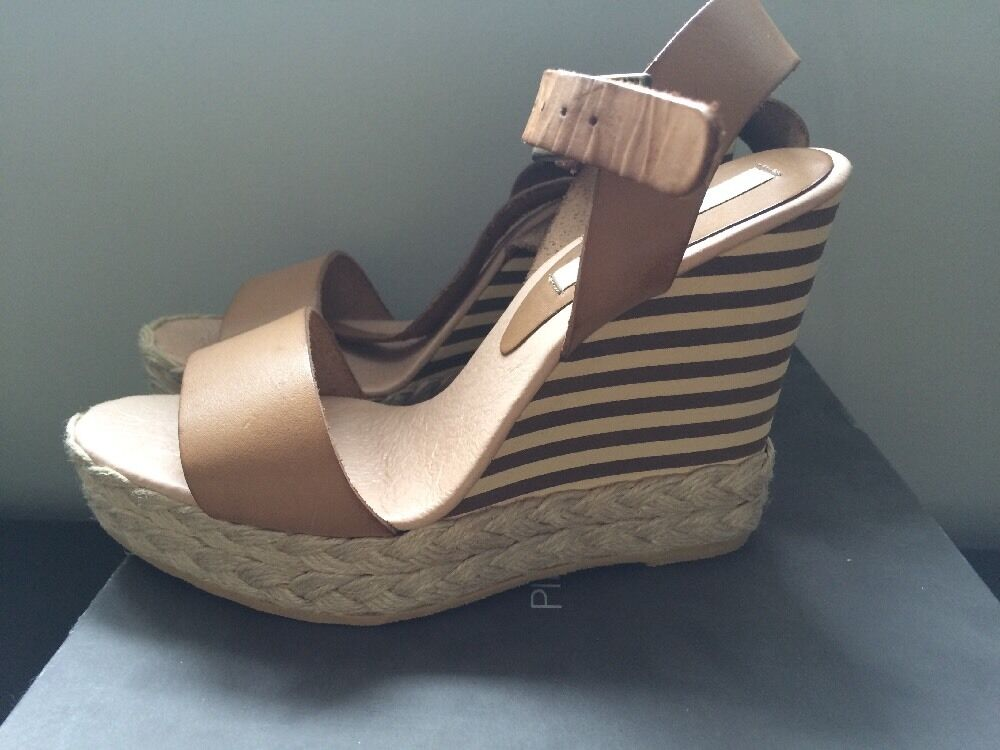 Pied A Terre Leola Ankle Tie Wedges Size 5 Uk 38 Eu