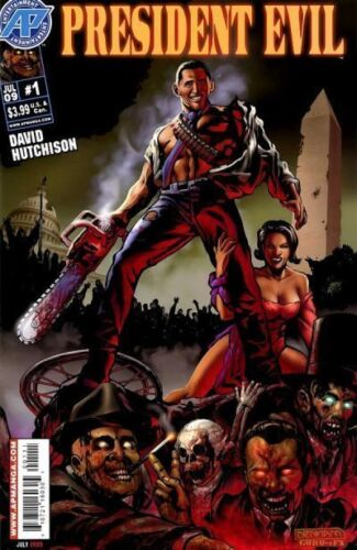 Barack Obama VS Zombies PRESIDENT EVIL Comic Book # 1 ARMY OF DARKNESS Cover