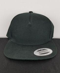 5de9eb14d4f45 New The Classics Snapback Cap Hat Black Chief Yupoong Adjustable ...