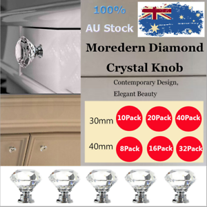 8X-30mm-40mm-Crystal-Diamond-Clear-Glass-Door-Pull-Drawer-Knob-Handle-Cabinet