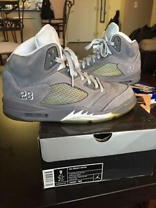 df1cff3cb333 Image is loading Air-Jordan-5-retro-Wolf-Grey-size-9