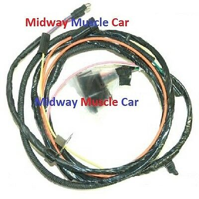 1967 Impala Belair Biscayne Engine Wiring Harness 283 327 SS with Gauges No AC