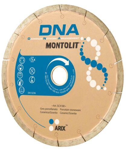 DISCO DIAMANTATO DNA MONTOLIT SCX PER GRES PORCELLANATO CERAMICA GRANITO