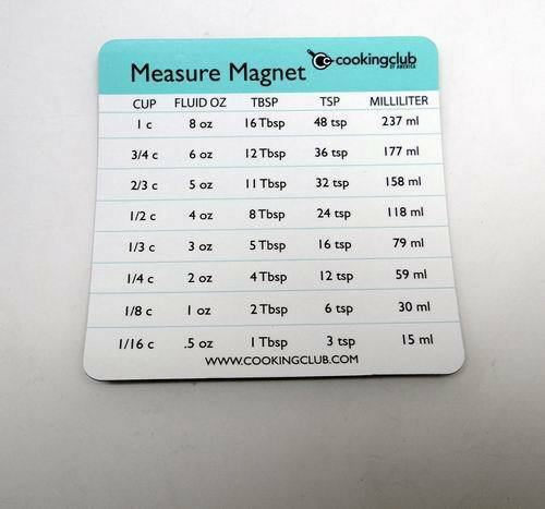 Lot of 5 Cooking Club of America Measure Conversion Magnet
