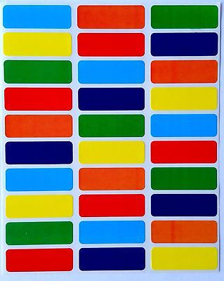 RECTANGULAR COLOR CODING STICKERS--6 COLORS LABELS-IDEAL FOR GLASS BOTTLES