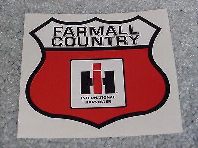 FARMALL COUNTRY IH INTERNATIONAL HARVESTER STICKER