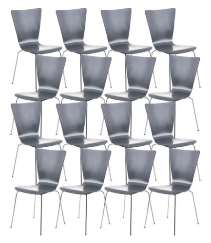16x Besucherstuhl AARON Konferenzstuhl Stapelstuhl Küchenstuhl Stuhl stapelbar