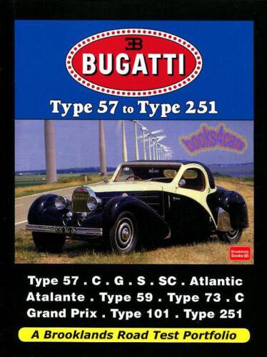 BUGATTI BOOK BROOKLANDS PORTFOLIO ATLANTIC ATALANTE 59 73 251