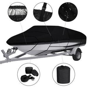 Waterproof Trailerable Boat Cover V-hull Fish Ski Bass 11-13/14-16/17-19/20-22ft