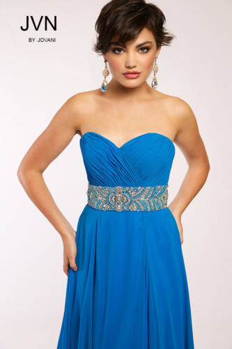 Strapless Prom Turquoise Sweetheart 10 Sz Dress Bodice Nieuw Nwt Ruched Jovani wE757Yq