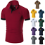 Men-039-s-Slim-Fit-Shirts-Short-Sleeve-Casual-Gol-T-Shirt-Jersey-Tops-Muscle-Tee thumbnail 1