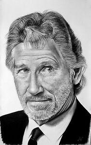 Roger Waters - portrait ritratto GIGANTE grafite e carboncino cm. 75 x 120 - Italia - Roger Waters - portrait ritratto GIGANTE grafite e carboncino cm. 75 x 120 - Italia