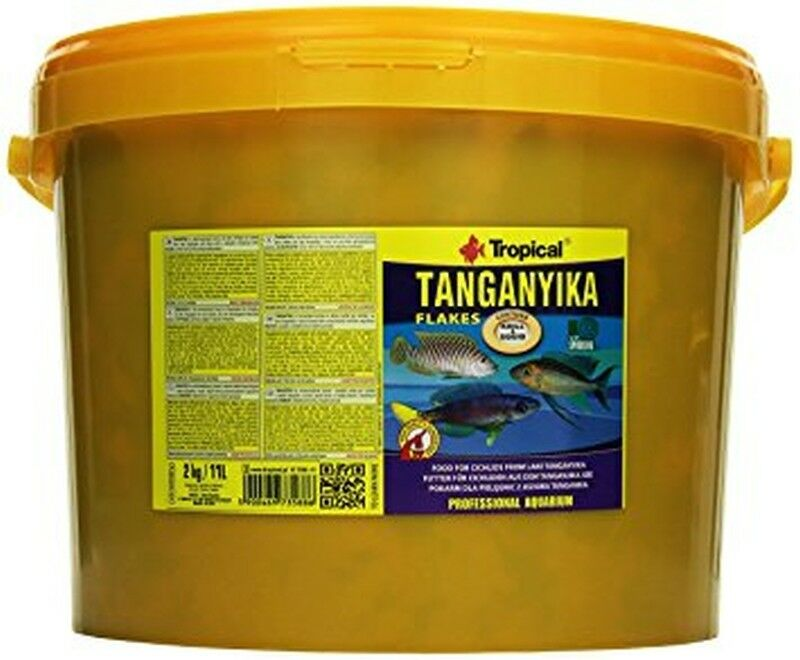 TANGANYIKA FLAKES FLAKES FLAKES WITH SPIRULINA & KRILL TROPICAL AQUARIUM CICHLID FISH FOOD 8c325c