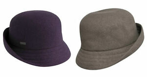 Image is loading KANGOL-Wool-Anni-Cloche-Womens-Ladies-Trilby-Hat- e657e50aaa7a