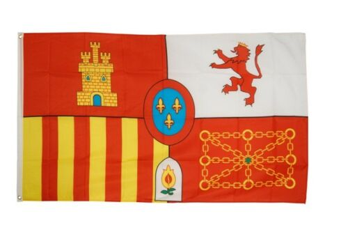 Bandiera Spagna Royal bandiera reale spagnola hissflagge 90x150cm