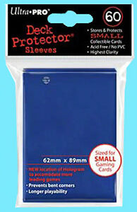 60-Ultra-Pro-DECK-PROTECTOR-Small-Size-BLUE-Card-Sleeves-NEW-Yu-Gi-Oh-Game-Pack