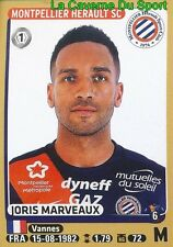 280 JORIS MARVEAUX # MONTPELLIER.HSC FC.LORIENT STICKER PANINI FOOT 2016