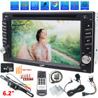 Backup Camera GPS Double 2Din Car Stereo Radio CD DVD Player Bluetooth SWC AUX