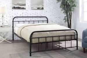 Hot Sale Black Hospital Victorian Style Metal Bed Frame Single